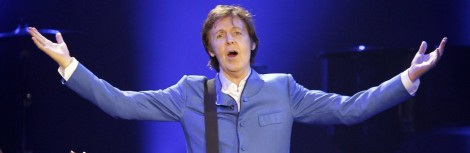 British singer Paul McCartney performs o